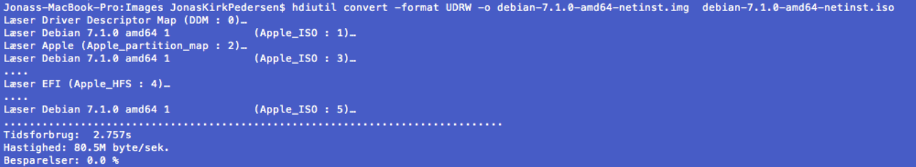 Making a bootable USB from an  iso image on Mac OS X   Linux